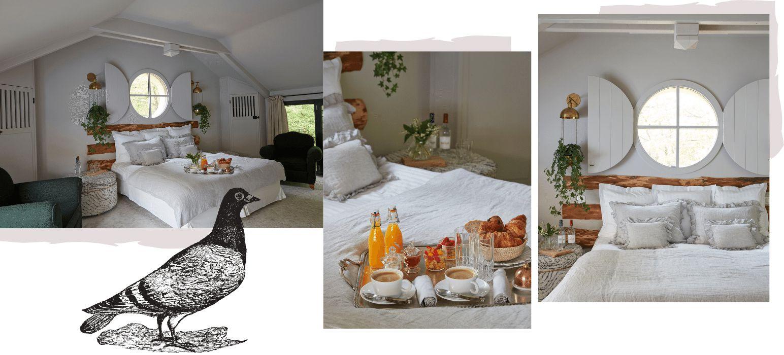 Chambre les pigeons au Domaine de Raba